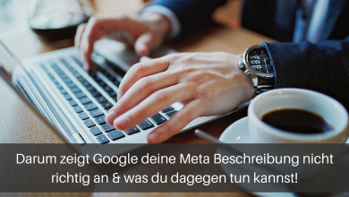 Meta Description in Google richtig anzeigen