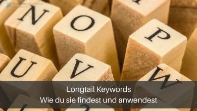 Longtail keywords Erklärung